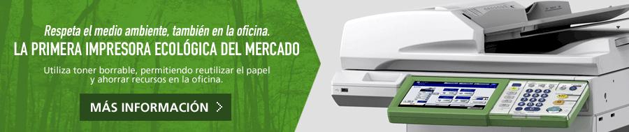 Fotocopiadora Ecológica e-STUDIO306LP. Infórmate sobre el renting de impresora ecológica