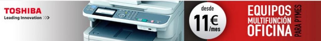Fotocopiadoras profesionales Toshiba desde 11 euros al mes