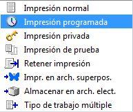 Tipos de impresiones en una fotocopiadora Toshiba
