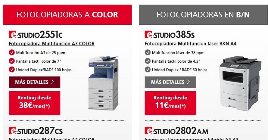 Guía para elegir el renting de fotocopiadoras multifunción perfecto según las necesidades de impresión y la capacidad empresarial a la hora de trabajar con documentos en blanco y negro o a color
