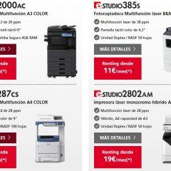 Principales características y ventajas de las impresoras Toshiba e-Studio