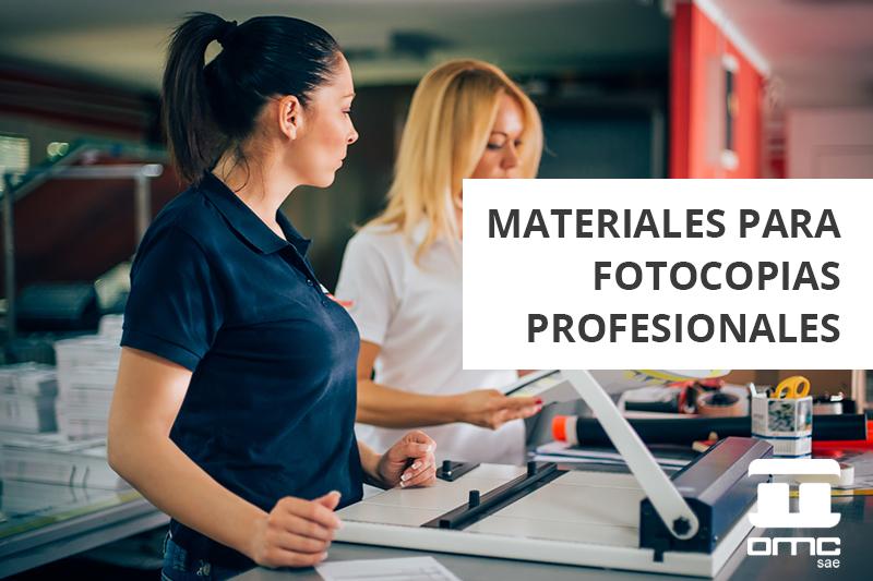 ¿Qué materiales para fotocopias profesionales en la oficina puedo usar?