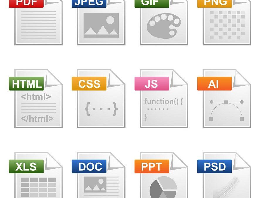 Extensiones de archivo en las fotocopiadoras profesionales con escáner